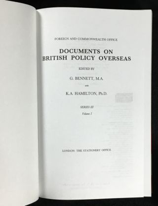 Britain and the Soviet Union 1968-1972. Documents on British Policy Overseas: Series III, Volume I.