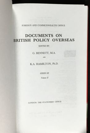 The Conference on Security and Cooperation in Europe 1972-1975. Documents on British Policy Overseas: Series III, Volume II.