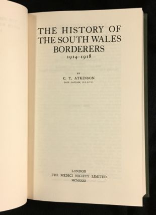 The History of the South Wales Borderers 1914-1918.