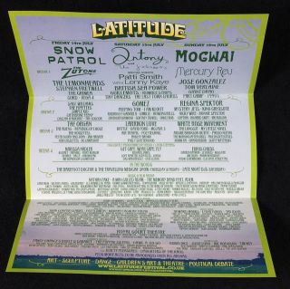 Folded A4 publicity leaflet for the first Latitude Festival, at Henham Park, Southwold, Suffolk, 14th-16th July 2006.