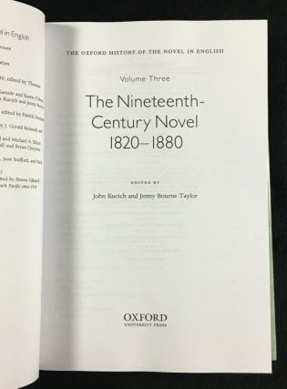 The Nineteenth Century Novel 1820-1880. OHNE - The Oxford History of the Novel in English, Volume 3.